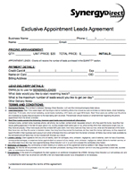 Exclusive Appointment Leads Agreement